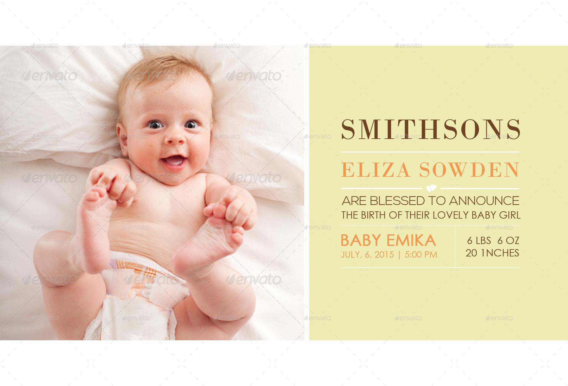 Birth Announcements Postcard by NishaMehta – Birth Announcements