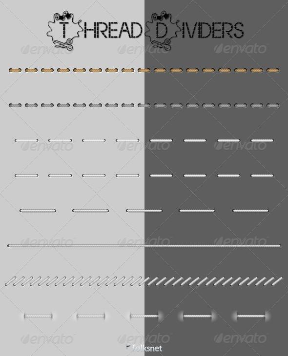 GraphicRiver Thread Web Dividers 166223