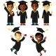 Graduates People Set