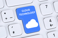 Symbol cloud computing technology storage on internet cyberspace