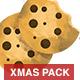 Watercolor Christmas Decoretive Elements Pack