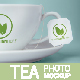 Tea Cup And Tea Label Branding Photo Mockup