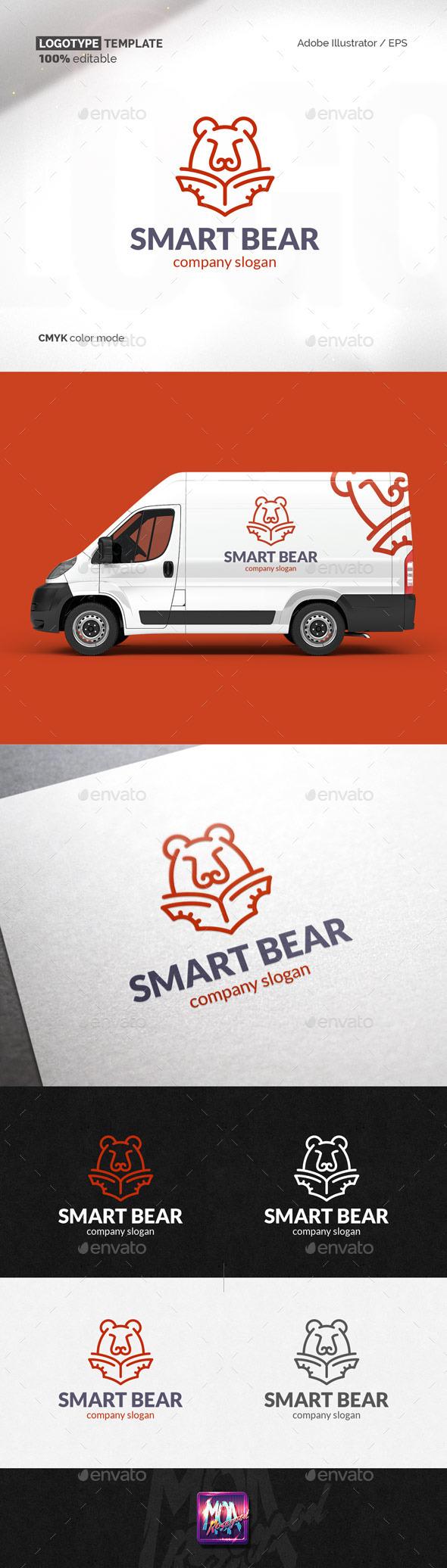 Smart Bear logo template
