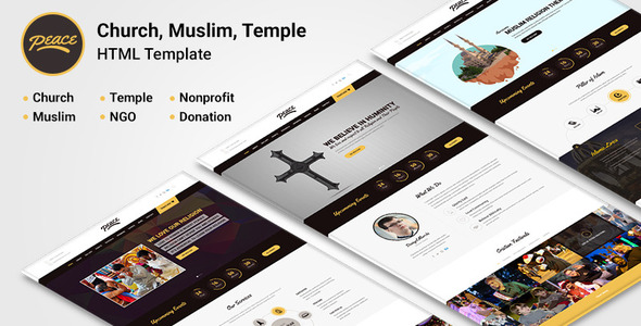 Peace - Church / Muslims / Temple HTML Template