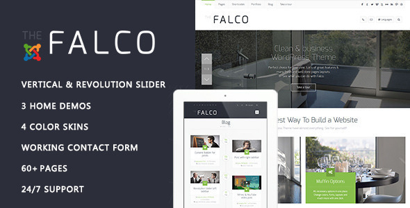 Falco - Responsive Multi-Purpose Joomla Theme