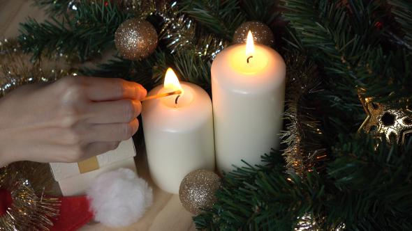 Light Christmas Candle