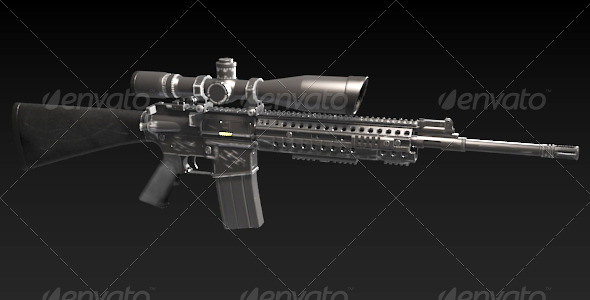 M4 Sniper Rife - 3DOcean Item for Sale