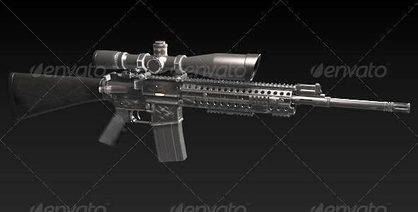 3DOcean M4 Sniper Rife 166288