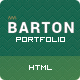 BARTON - Smart Portfolio for Creative People - ThemeForest Item for Sale