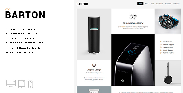 BARTON - Smart Portfolio for Creative People
