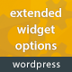 Extended Widget Options for WordPress - CodeCanyon Item for Sale