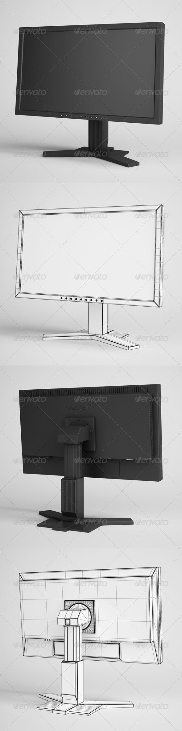 3DOcean CGAxis Flatscreen Monitor Electronics 20 166336