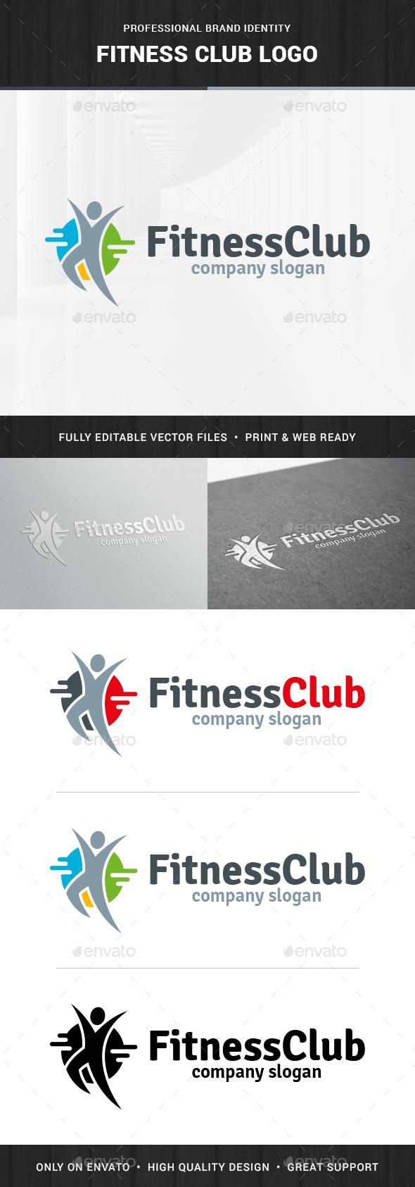 Fitness Club - Human Logo