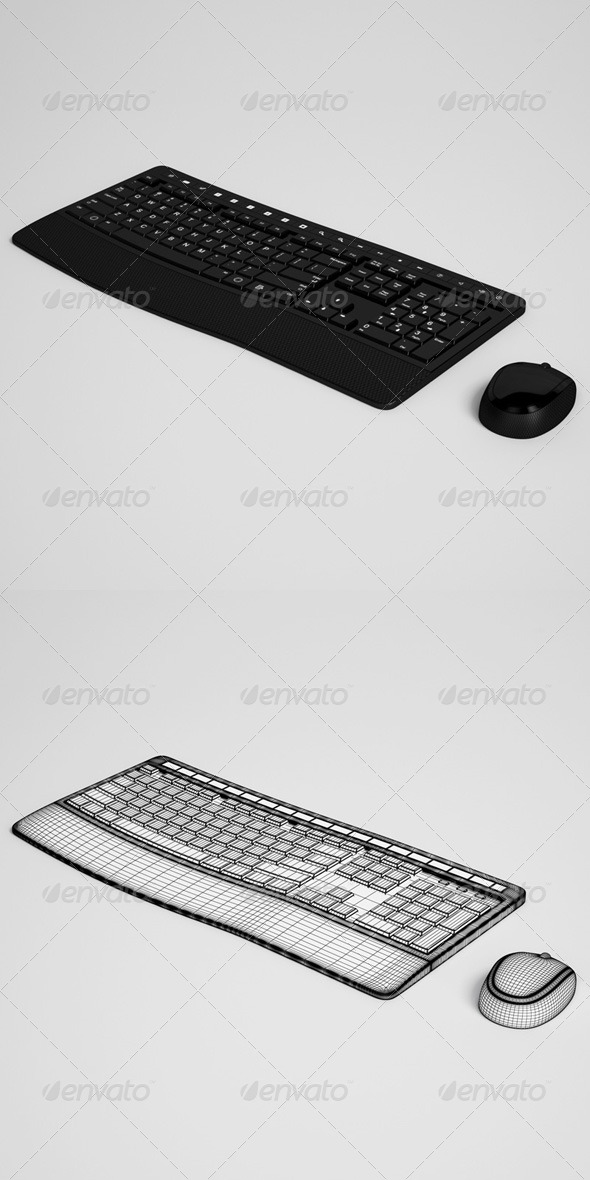 CGAxis Keyboard and Mouse Electronics 26 - 3DOcean Item for Sale