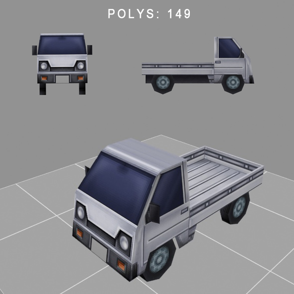 3DOcean car low-poly for game 14026754