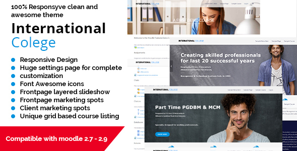 International Colege - Responsive Moodle Theme