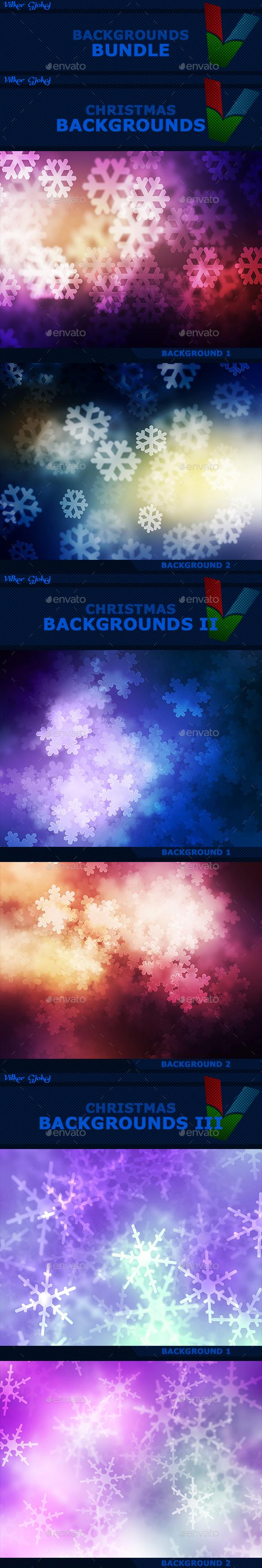 15 Christmas Backgrounds Bundle