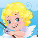 Cupid the Fisherman St.Valentine Cartoon