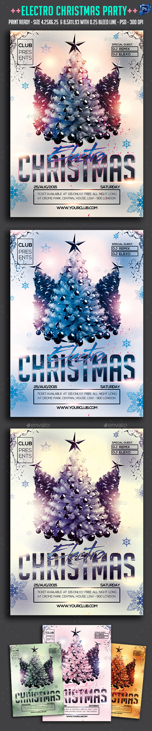Electro Christmas Party Flyer