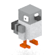 Bird - Voxel-like 3D Model