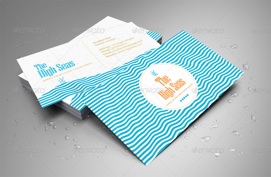 Hotel, Beach Resort, Swimming Club Business Card