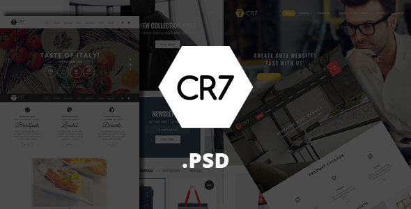CR7 - eCommerce PSD Template