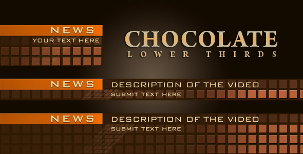 After Effects Project - VideoHive Chocolate Lower Thirds 1401593