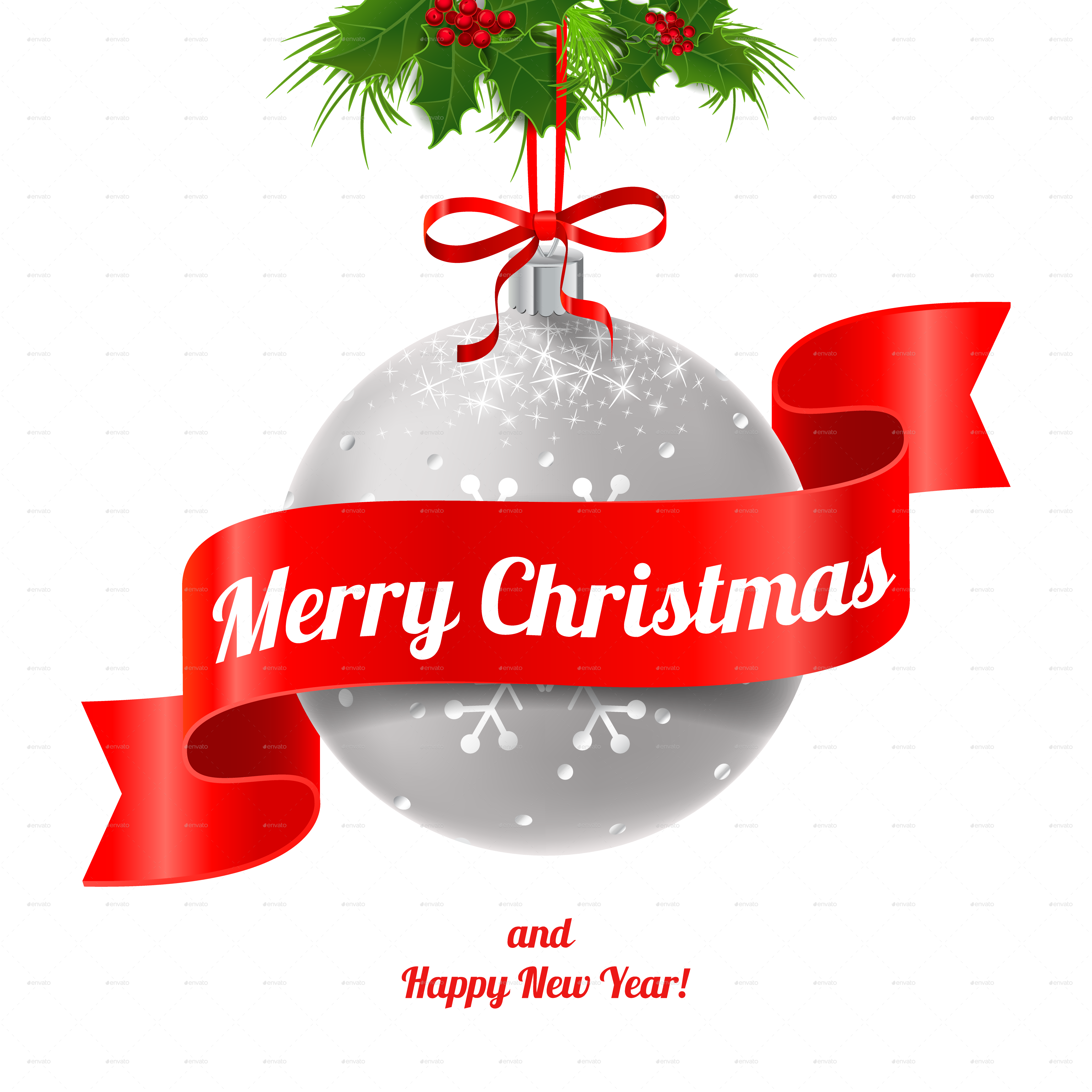 Merry Christmas and Happy New Year. by artleska   GraphicRiver