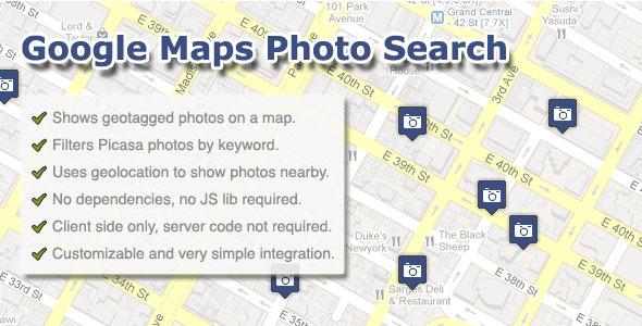 CodeCanyon Google Maps Photo Search 1402257