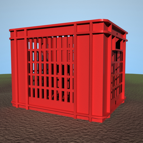 Plastic Milk Crate - 3DOcean Item for Sale