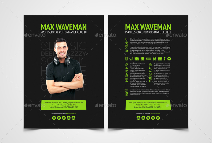 dj press kit template free groove dj press kit resume psd template by vinyljunkie