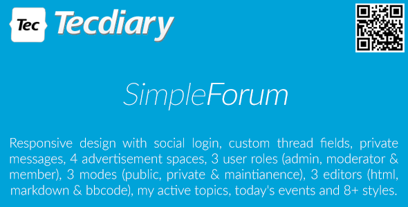 Download Simple Forum - Responsive Bulletin Board nulled download