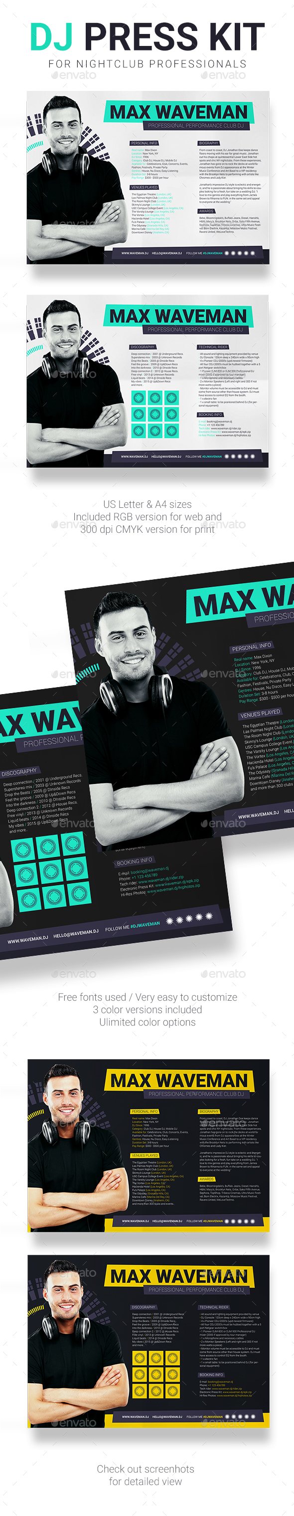 Press Kit Graphics Designs Templates from GraphicRiver – Press Kit Template