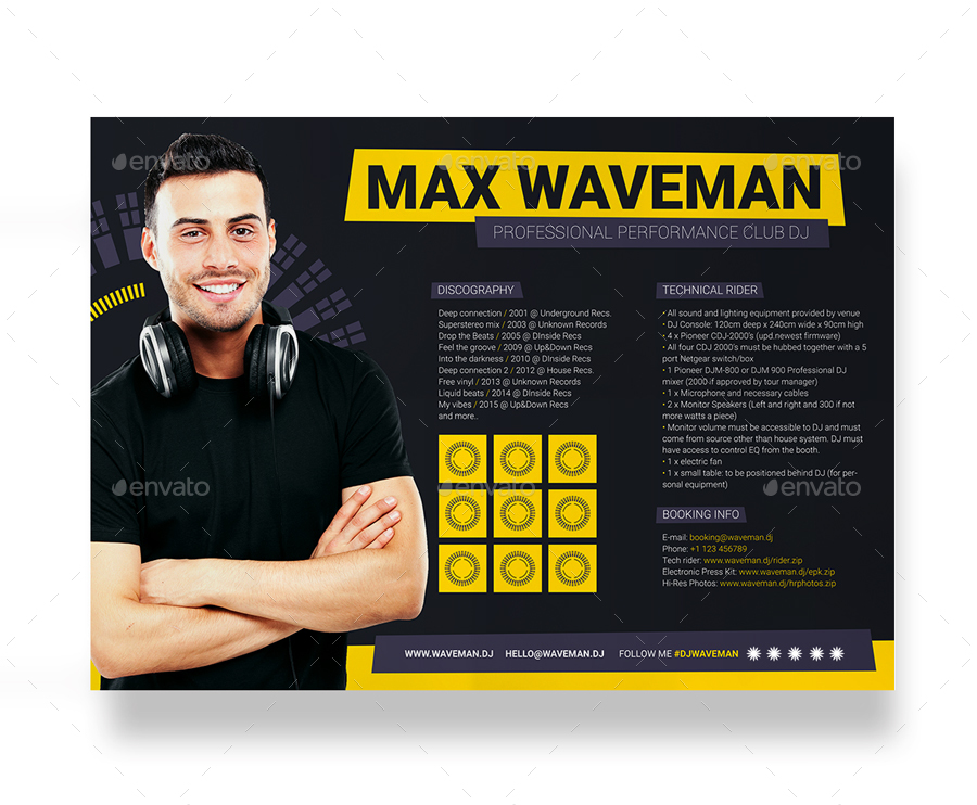 dj press kit template free prodj dj press kit rider resume psd template by