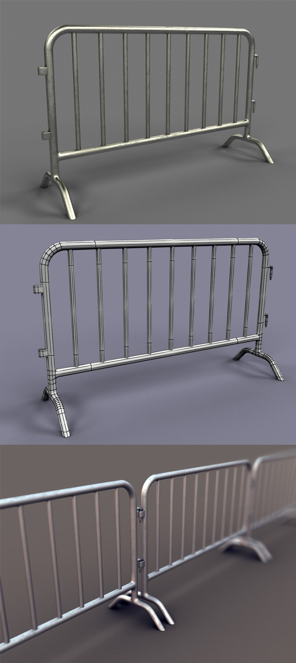 Metal Barrier - 3DOcean Item for Sale