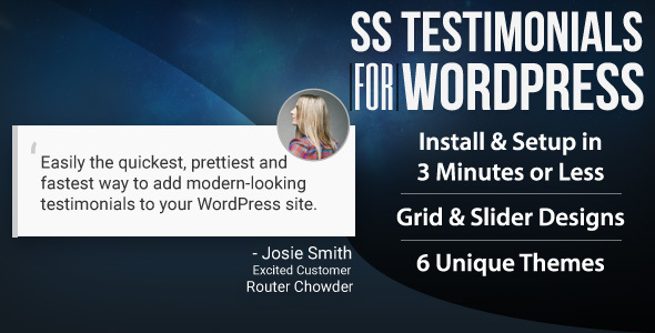 SS Testimonials for WordPress