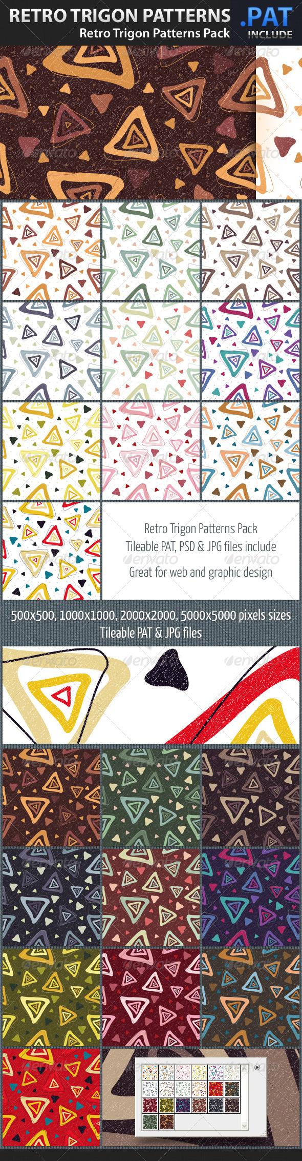 Retro Trigon Patterns Pack - Art Textures