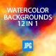Watercolour Designer Backgrounds V.2