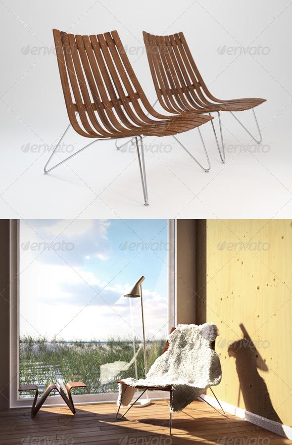 3DOcean Fjordfiesta Scandia Nett Lounge chair 166592