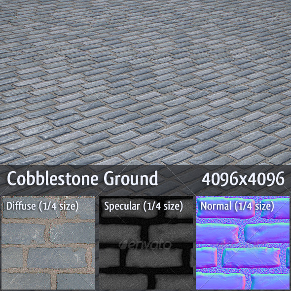 3DOcean Cobblestone Ground 166618