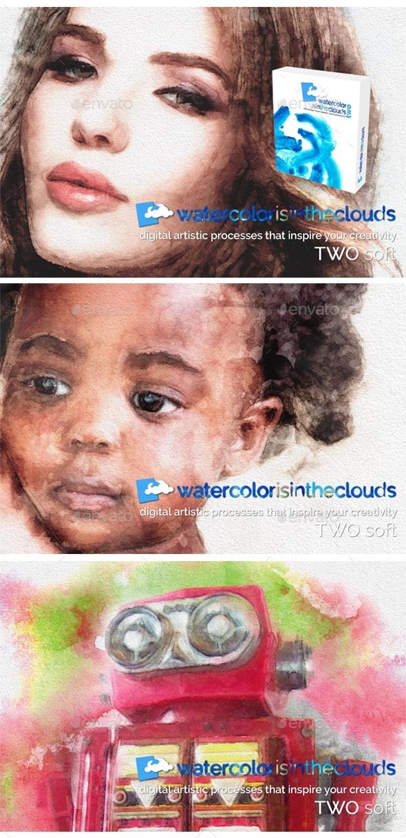 Animated Watercolor Slides Template (Artistic)