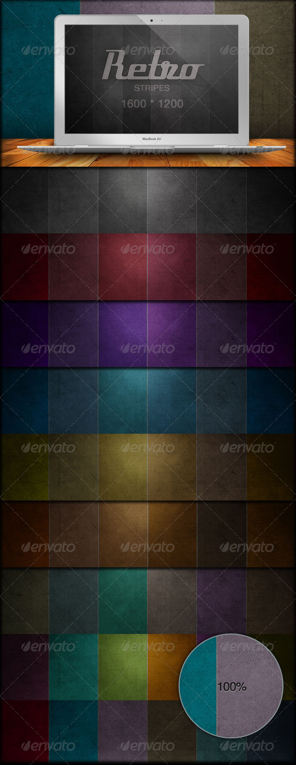 60 Retro Stripe Grunge Backgrounds