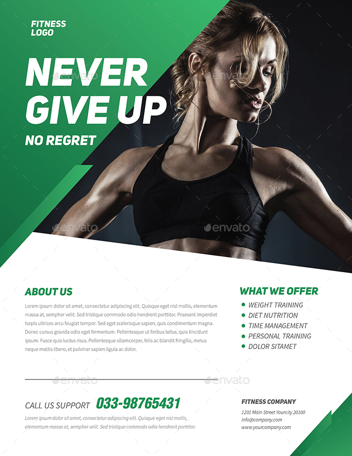 Professional Fitness Flyer by Guuver – Fitness Flyer