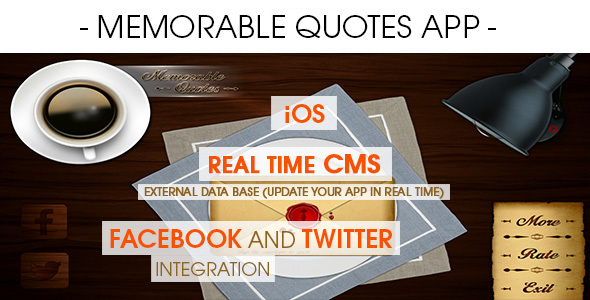 Memorable Quotes App With CMS – iOS