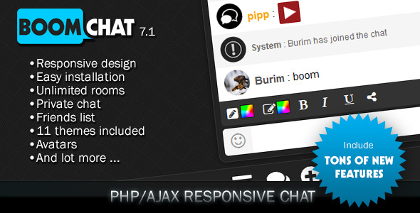 Download Boomchat - Responsive PHP/AJAX Chat nulled download