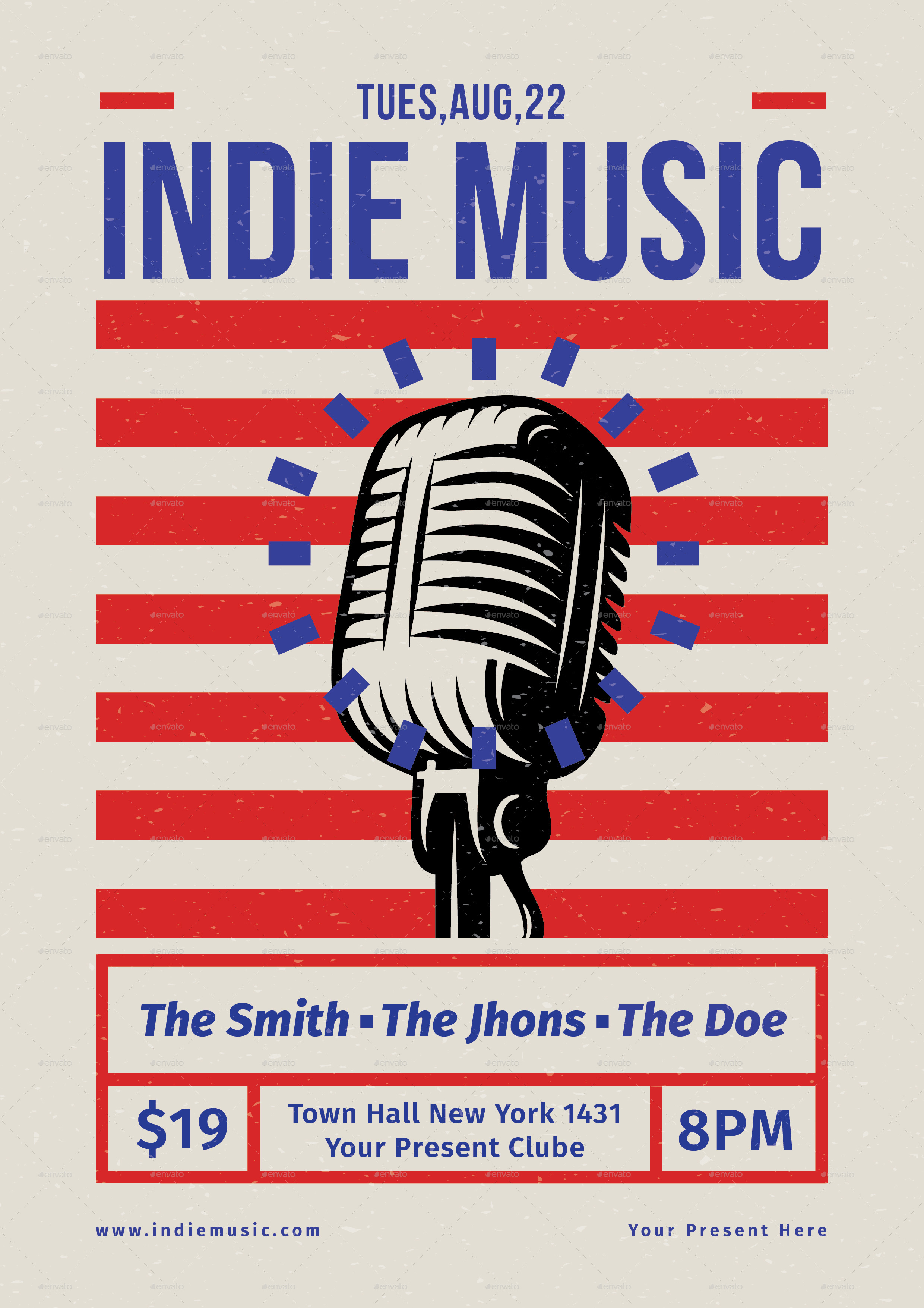 Indie Music Flyer by lilynthesweetpea – Music Flyer