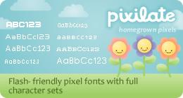 pixilate pixel fonts