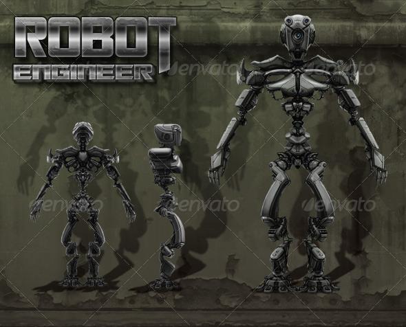 Robot Engineer - 3DOcean Item for Sale