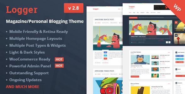 Logger - Magazine/Personal Blogging Theme - Swiftideas Themes on