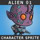 Alien 01 - The purple skin alien